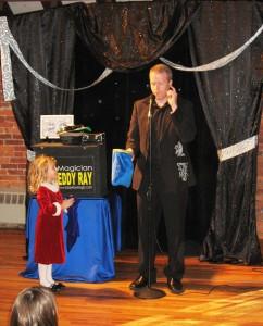 Pennsylvania Magician Eddy Ray With Audience Helper