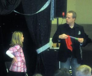 Pennsylvania Magician Eddy Ray With A Helper