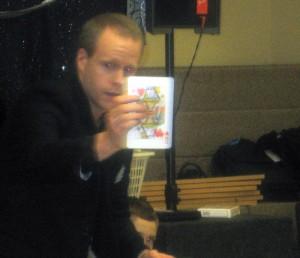 Pennsylvania Magician Eddy Ray Performing Card Magic